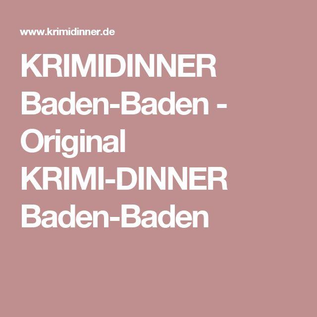 Krimidinner Baden-Baden