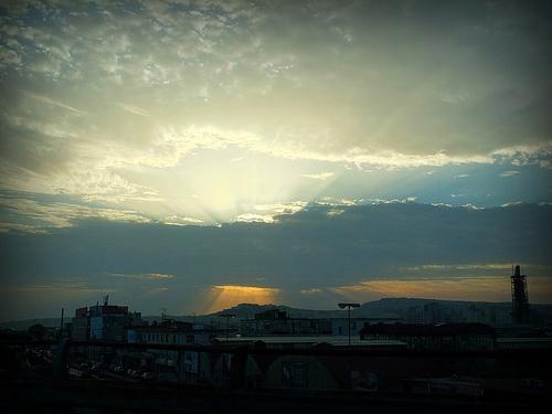 Napoli al tramonto