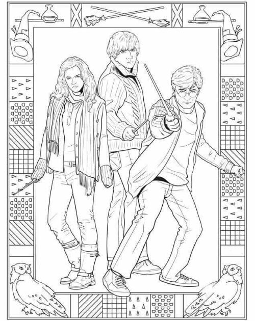 coloriage | Coloriage harry potter, Coloriage, Coloriage chat