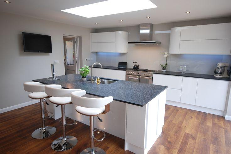 kitchen and warm wood floor white modern kitchen open plan kitchen see