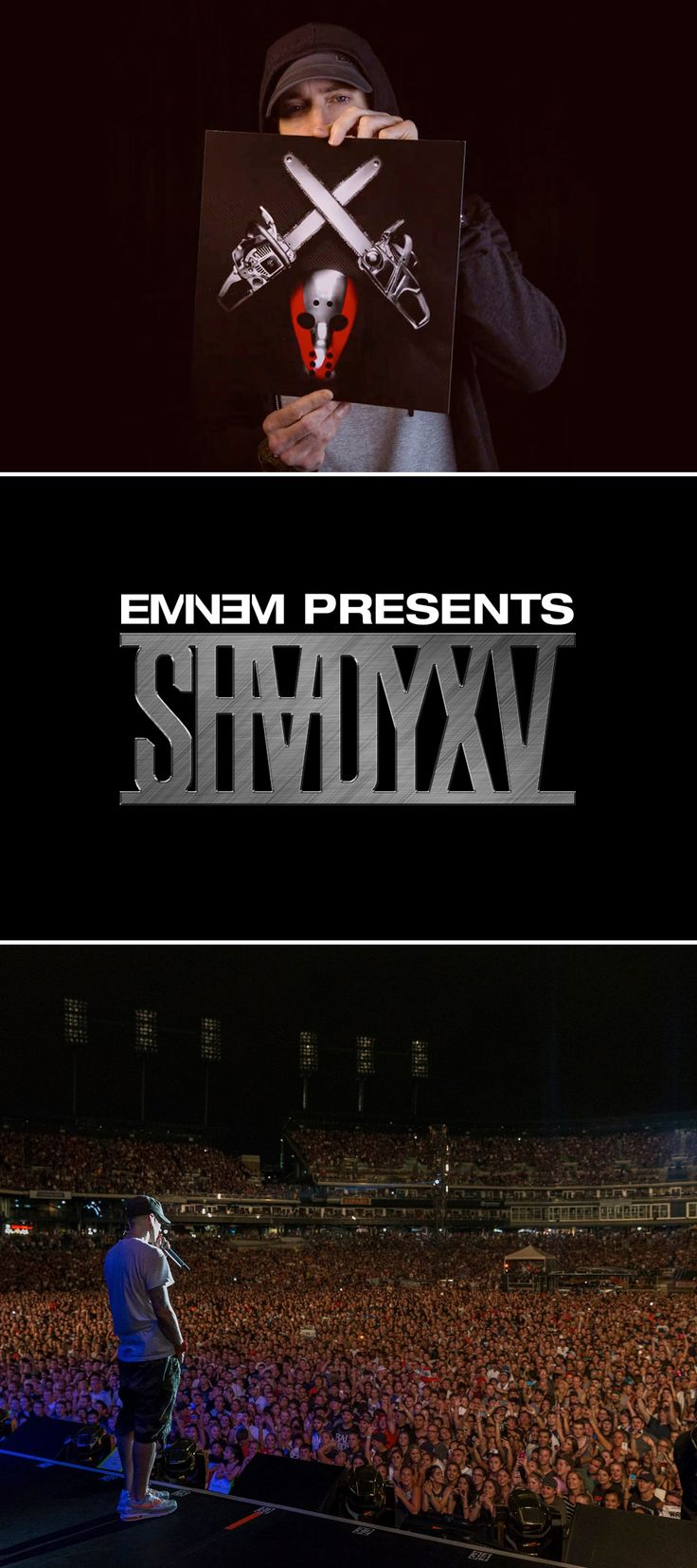 #Eminem is currently the second-highest selling male artist of the modern era and the hype around the release of the latest album #ShadyXV is as epic as the disc itself. Check out Shady XV...!