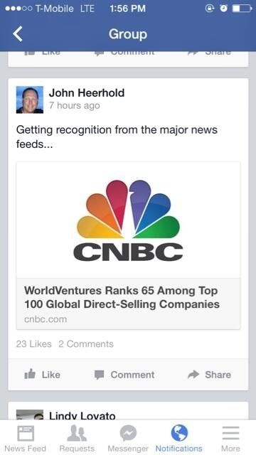World Ventures always outdoing ourselves! #cnbc #recognition