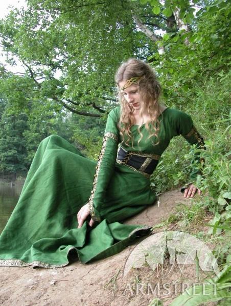 Robe tunique médiévale avec la ceinture « Princesse de la forêt » ArmStreet