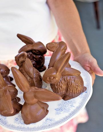 Chocolate bunnies and eggs from Hammond's Candies