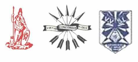 Dit zijn de wapens van de Leidse studentenvereniging waar Erik Hazelhoff lid van was. Die worden Logo's-minerva of LSV Minerva genoemd.