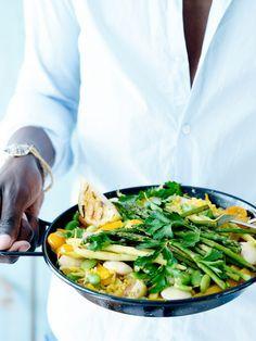 Feeling - 4 zomerse recepten met groenten: GROENTEPAELLA MET WITTE BONEN