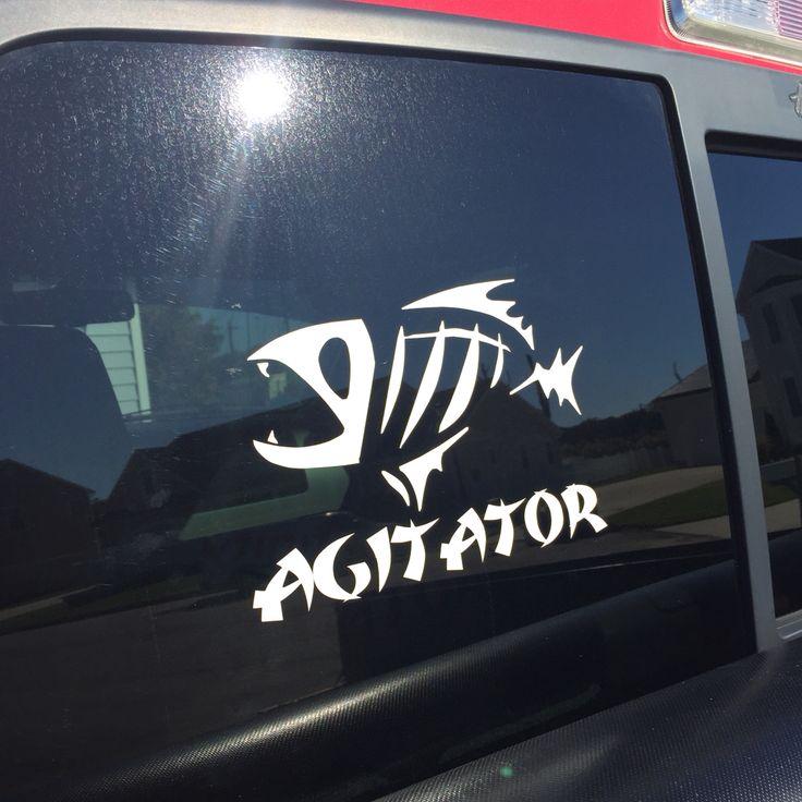 Agitator Vinyl Decal Boat Name Facebook Dingbatsanddoodles
