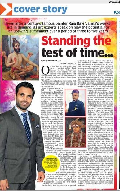 STANDING THE TEST OF TIME - B&H coverage in Deccan Chronicle - Kochi, Thiruvananthapuram, Kozhikode - 29 April 2015