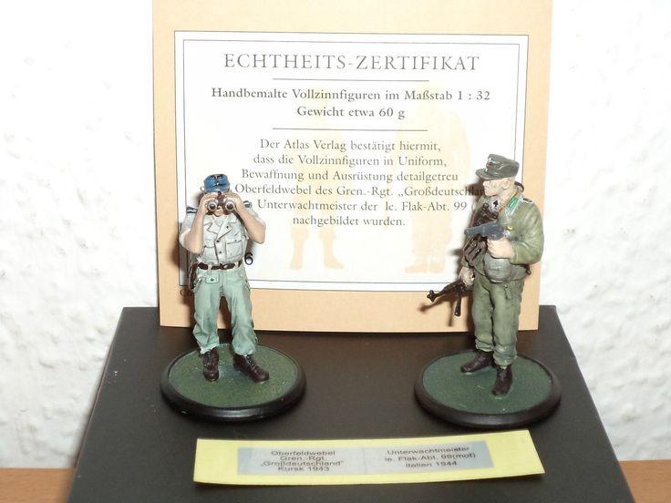 ATLAS Vollzinnfiguren Wehrmacht Oberfeldwebel 1943/ Unterwachtmeister 1944 1:32 | eBay