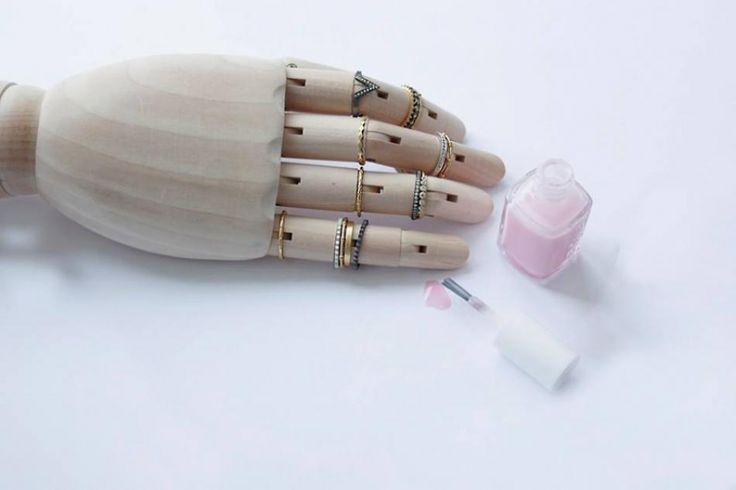 A hand full of jewellery