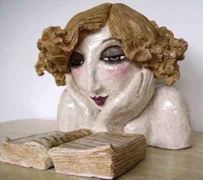 Paper mache reader. #book #bibliophile
