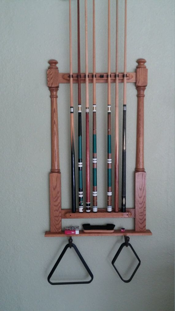 25 best ideas about pool cue racks on pinterest pool for Cue rack plans