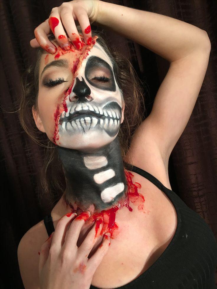 #halloween #makeup #fantasymakeup #skullmakeup
