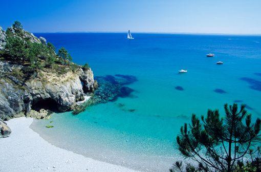 France, Finistere, Crozon peninsula, Cap de la Chevre, Pointe de Saint Hernot, Douarnenez Bay