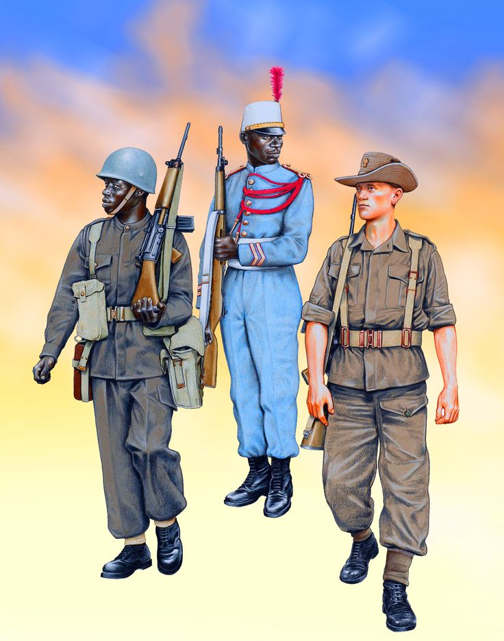 Congolese troops during the Congol independence and crisis of 1960