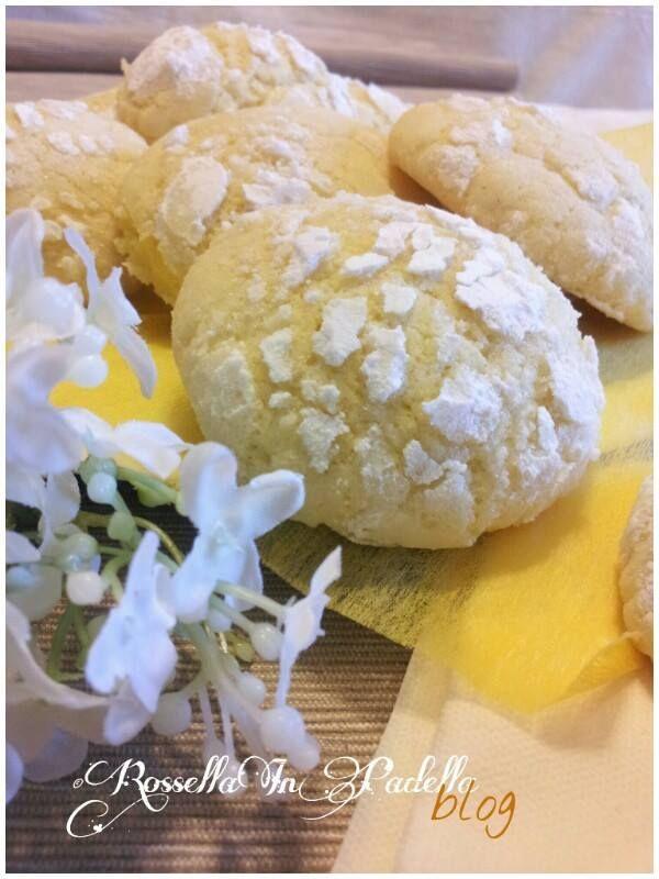 Biscotti al limone – lemon crackles cookies