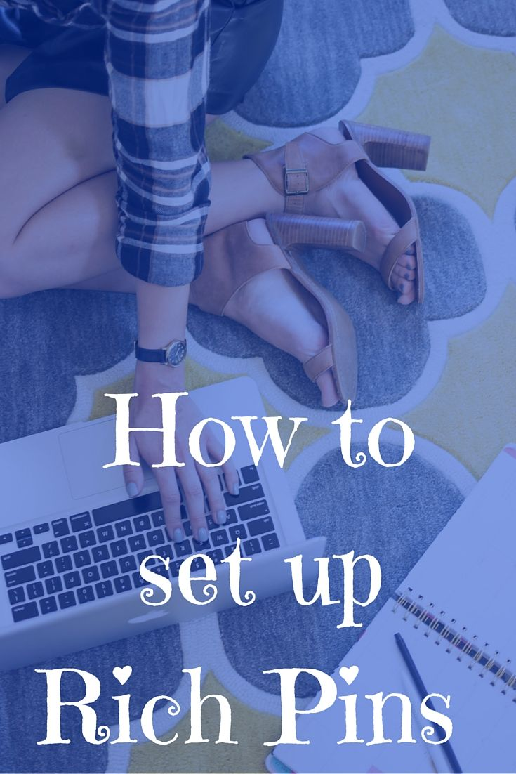 My easy way of setting up Rich Pins on Pinterest. This has helped my Pinterest grow and direct more traffic to my blog.