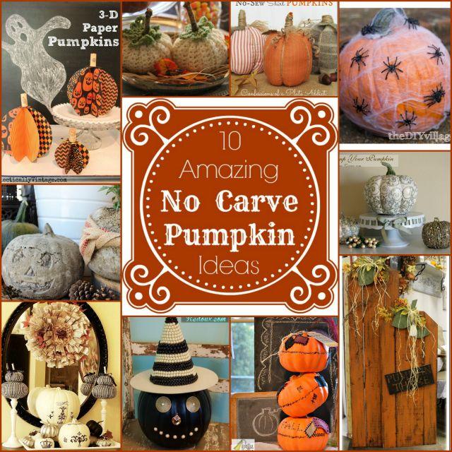 10 amazing no carve pumpkin ideas