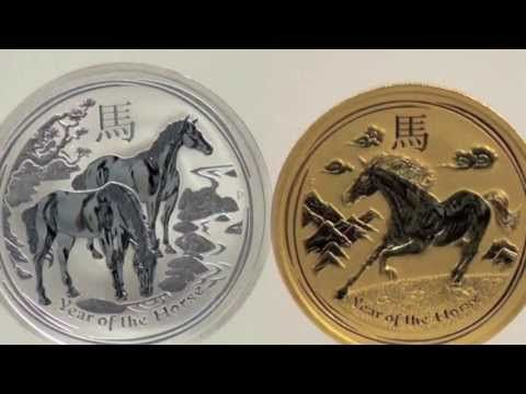 2014 Year of the Horse Gold and Silver Bullion Coins from The Perth Mint