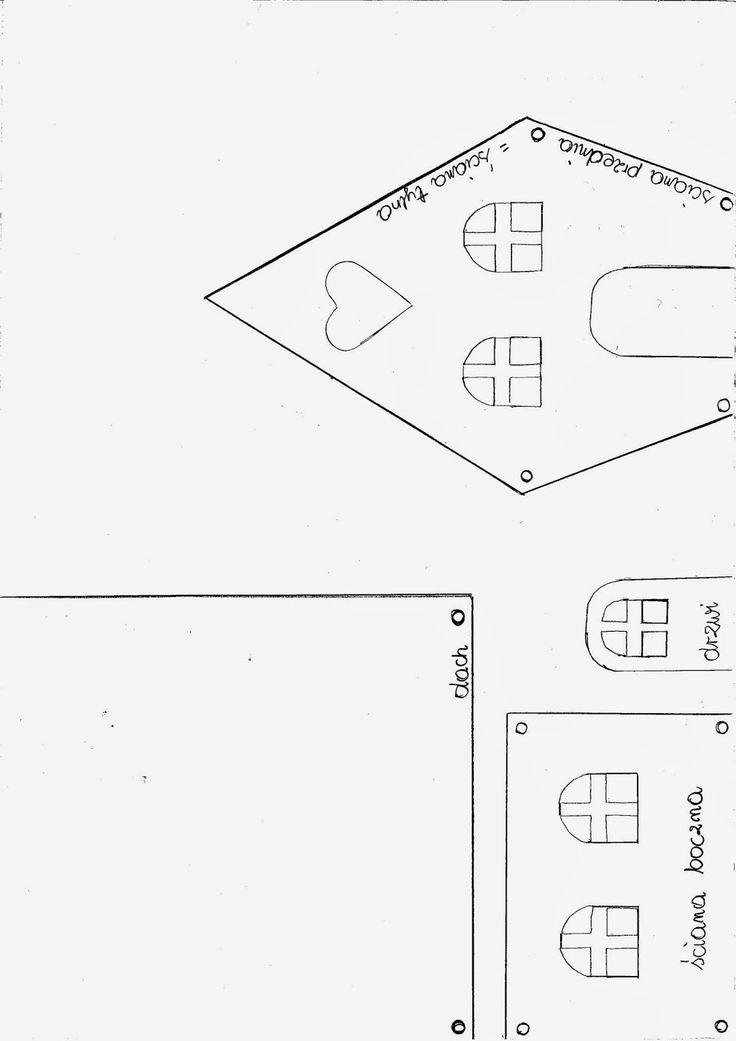 domek z piernika szablon - Szukaj w Google