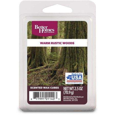 Better Homes and Gardens Warm Rustic Woods Fragrance Cubes, 6pk