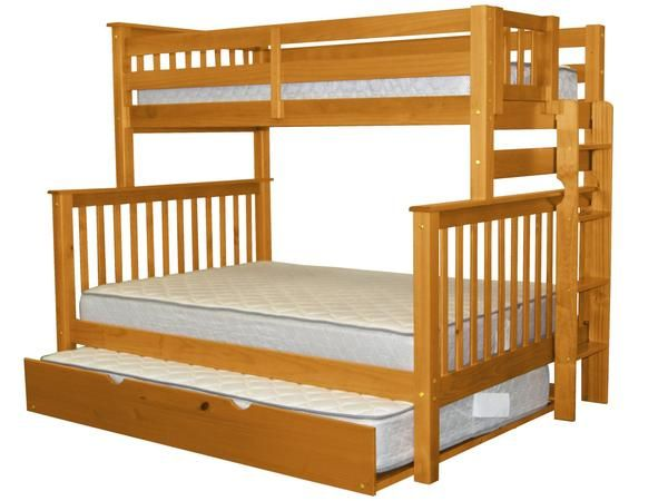 Bunk Beds Twin Over Full End Ladder Honey Full Trundle Bunk Beds