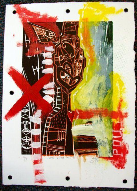 Tawera Tahuri Print mixed media on paper
