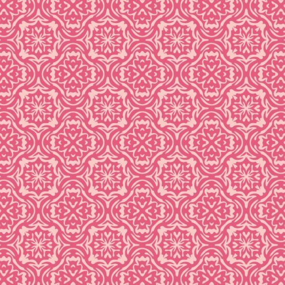 Items similar to Summer Song by My Minds Eye for Riley Blake Designs - Pink Summer Damask 1 Yard on Etsy