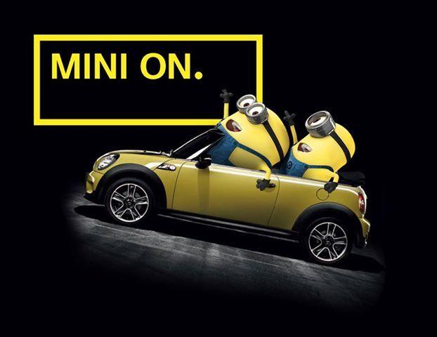 MINI ON | NOT NORMAL | MINI | Mini Cooper | Minions | car | Miniac | Schomp MINI