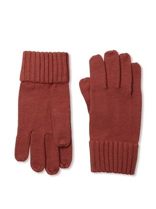 Portolano Men's Ribbed Gloves (Tomato)
