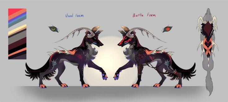 Horned Wolf (open!) by Furrirama.deviantart.com on @DeviantArt