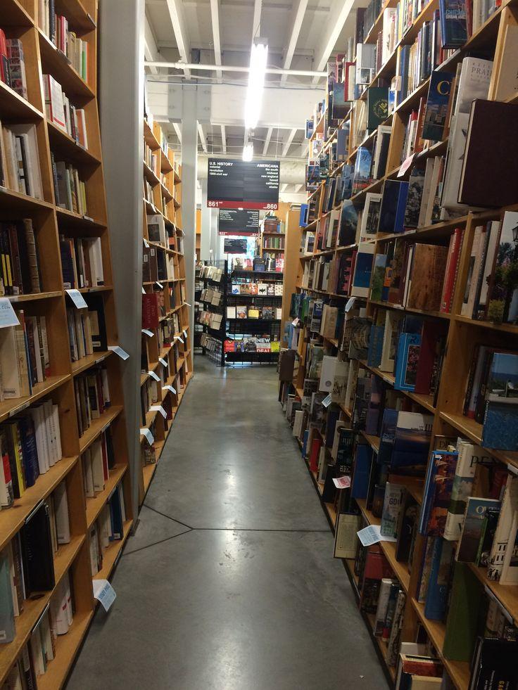 Books books books in Powell's Bookstore Portland  © Sarah Murphy