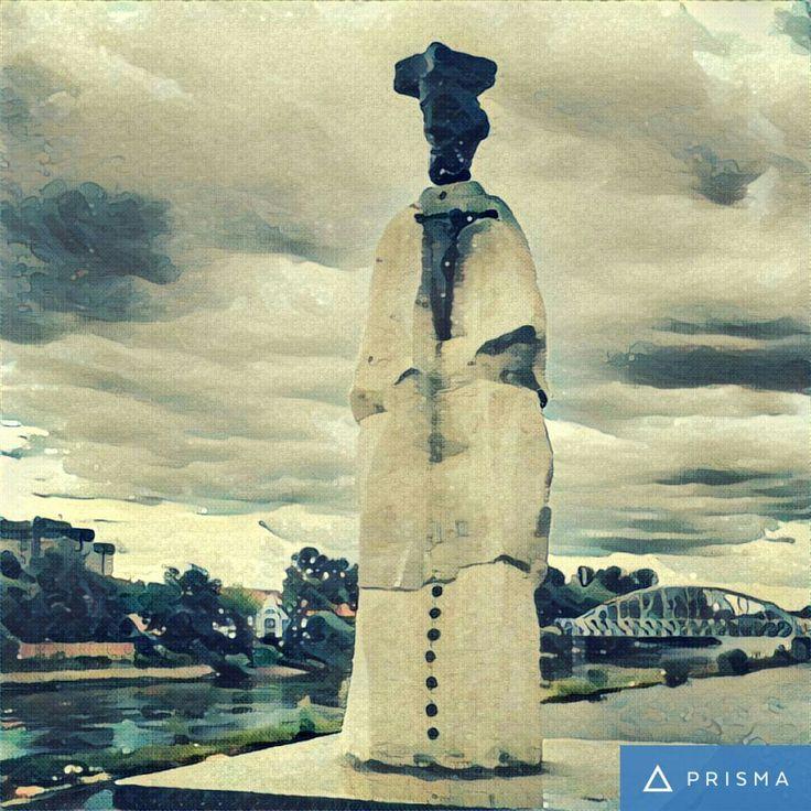 Rzeźba św. Jana Nepomucena kapłana, męczennika ur. ok. 1350-1393 / Statue of St. John of Nepomuk priest, martyr born. ca 1350-1393 // Głogów, Poland