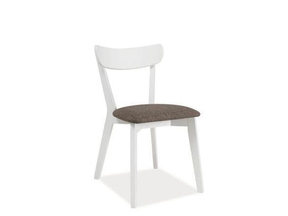 Krzesło CD-23 to wspaniałe krzesło do jadalni w stylu prowansalskim. Konstrukcja krzesła wykonana została z drewna w kolorze białym, a miękkie siedzisko pokryto delikatną, szarą tkaniną doskonale pasującą do całości.