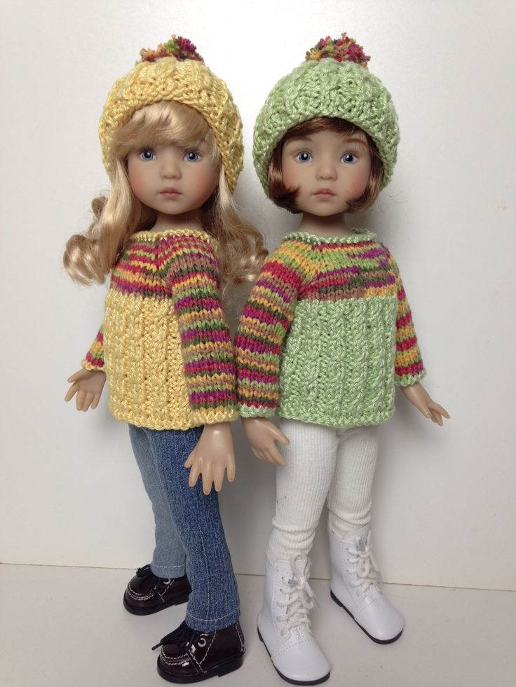 my little darlings in their sweater sets