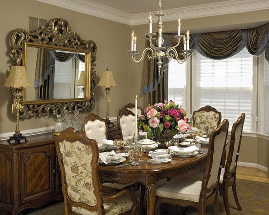 Dining Room Draperies And Window Treatments Design, Pictures, Remodel,  Decor And Ideas
