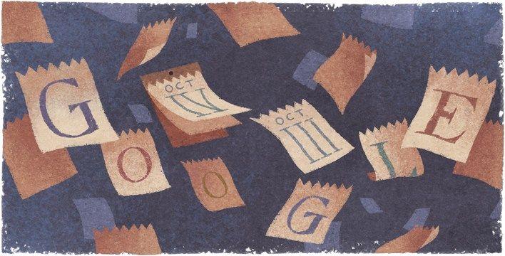 Doodle do calendário gregoriano, que faz hoje anos, pouco precisamente 434, porque lhe faltam 11 dias. A seguir à 5ª feira 4 de outubro seguiu-se de imediato a 6ª feira 15 de outubro. Isto aconteceu no ano de 1582. Os 3 primeiros países a adoptar este calendário foram a Itália, a Espanha e Portugal