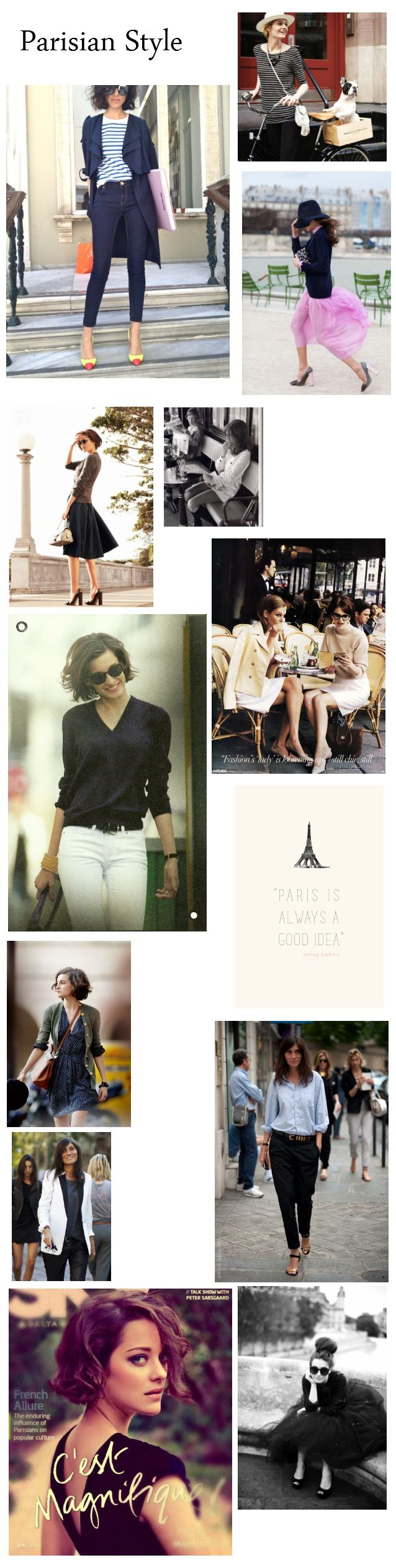 [INSPIRATION] Parisian Style | UK style and beauty blog for frugal fashionistas ¦ Sugar and Spice
