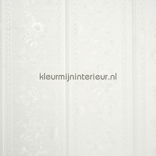 Glansvinyl streep met bloem behang 48725, Treasures van BN Wallcoverings