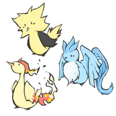 Articuno, Zapdos y Moltres, pokemon