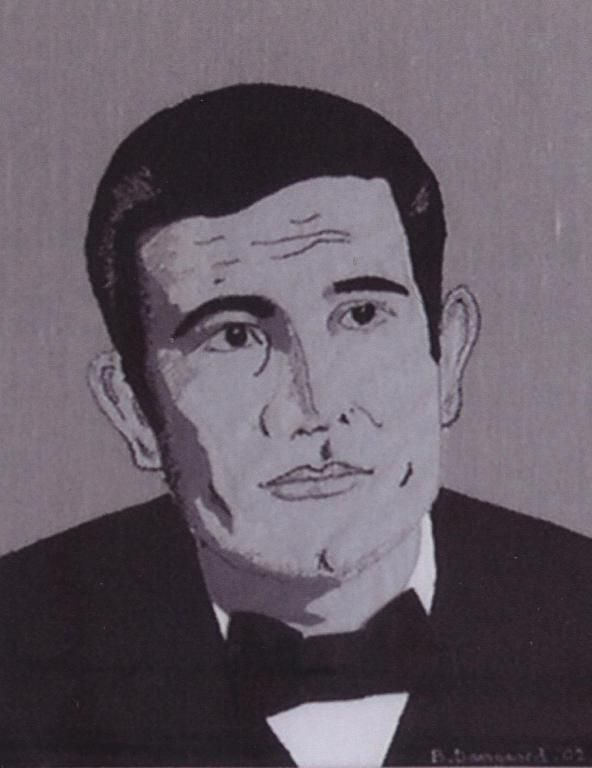 George Lazenby. Made this pictureapplication of George Lazenby, for my dear friend and collector Knud Braagaard