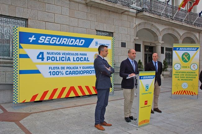 Policía Local Colmenar Viejo recibe 4 vehículos con desfibrilador