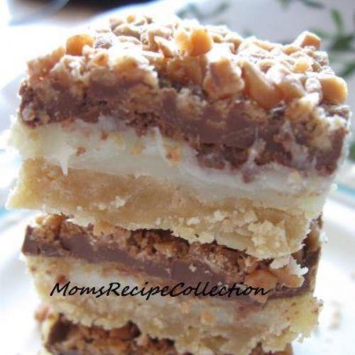 Toffee Chocolate Bars Recipe