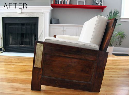 before & after: sofa made from old doors #diy #furniture (no diy tutorial, just inspiration)