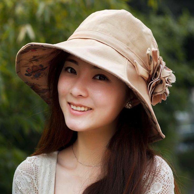 Female summer hats Sun hats Sun hats Korean large eaves UV collapsible