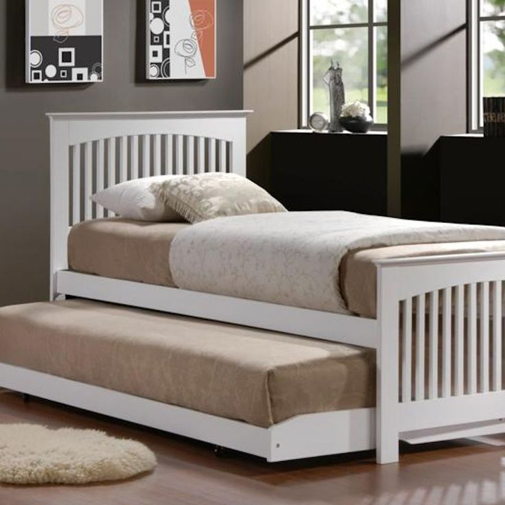 illustration of double trundle bed for kids bedroom - Wooden Trundle Bed Frame