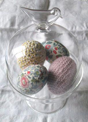 oeufs tissu / crochet / twine