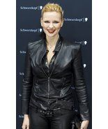 HANDMADE VERONICA FERRES BLACK SLIM LEATHER JAC... - $159.99
