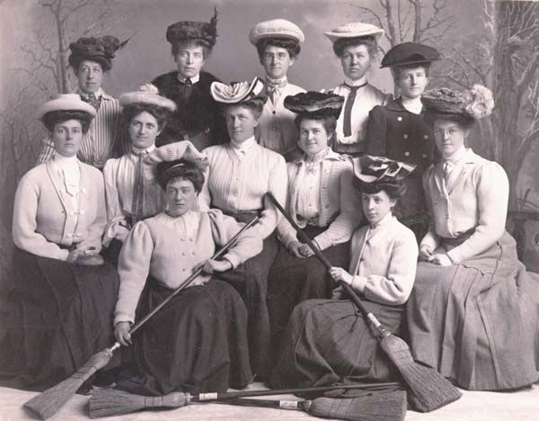 First Ladies Curling Club, St. John's, Newfoundland, 1906
