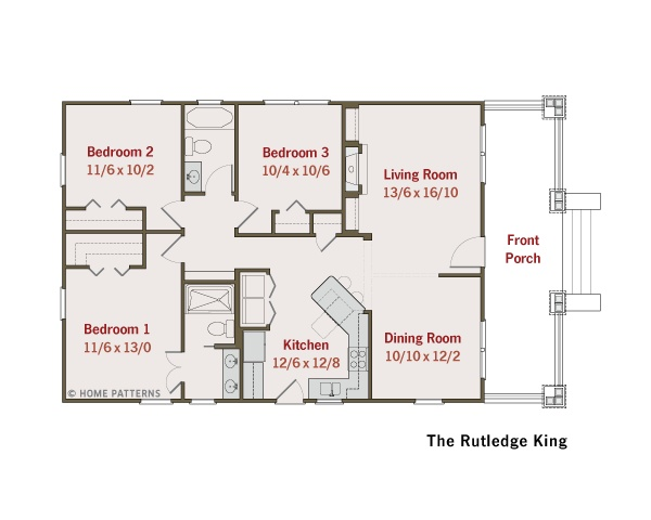 Bungalow house plans small house plans green home plans for Simple craftsman house plans